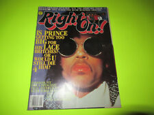 RIGHT ON MAGAZINE  PRINCE ISSUE JUNE 1985