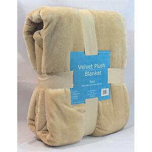 "NEW Warm Super Soft Velvet Plush Lounge Throw Blanket Twin 66""x96"" 4 COLORS"