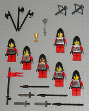LEGO Minifigures Lot 7 Dragon Castle Knights Swords Lego 70404 Minifigs People