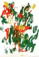 Zanni ???  -cavaliere informale litografia originale 1980