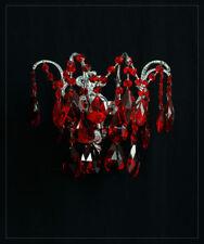 Applique murale avec fines rouge Cristaux (egalement / aussi vert possible
