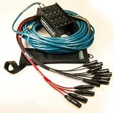 Whirlwind Medusa Elite Audio Snake 8 inputs, 4 XLR returns 100 ft ME-8-4-XL-100