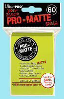 Ultra Pro 60 BRIGHT YELLOW PRO-MATTE Small Size Deck Protector NEW Card Sleeves