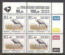 RSA 1993 Wattled Crane/Birds/Nature/Wildlife 1994 rprnt 1v c/b (za10041)
