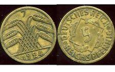 ALLEMAGNE 5  reichspfennig  1924 J