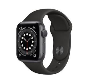 Apple Watch Series 6 - 40mm - Space Gray Aluminium Case - Black Sport Band - Neu