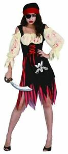 ZOMBIE PIRATE GIRL COSTUME HORROR HALLOWEEN FANCY DRESS OUTFIT
