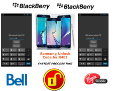BELL / VIRGIN UNLOCK CODE FOR BLACKBERRY PHONE ANY CANADIAN MODEL