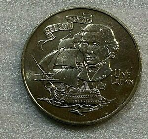 GIBRALTAR 1980 1 CROWN COIN ADMIRAL NELSON ~~~ UNCIRCULATED~~~
