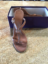 Women's Vintage Ralph Lauren On Trend T-Strap Sandal NWB Size 10B