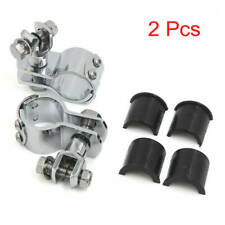 """Foot Rest Pegs Clevis 1-1/4"""" Mount Frame Tube Clamps For Harley Softail Touring"""