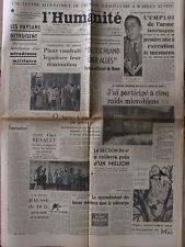 """L'Humanité - (6 mai 1952) """"Deutschland über Alles"""" - Pinay - Mystère d'Arras"""