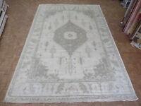 12 X 17'11 Hand Knotted Ivory Oushak Oriental Rug Vegetable Dyes Ushak G6081