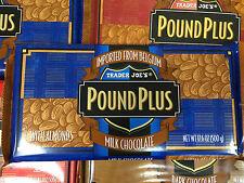3 HUGE TRADER JOE S BELGIUM POUND PLUS MILK CHOCOLATE ALMONDS BAR 1 POUND 3x