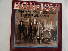 """Bon Jovi """"Wanted Dead Or Alive"""" PICTURE SLEEVE! MINT! ONLY NEW COPY ON eBAY!!"""