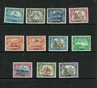 Aden: 1951 New Currency Surcharge set, MNH