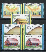 Brasilien 1475/81 postfrisch / Architektur - Häuser ......................1/1452