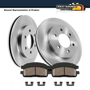 Front Rotors And Ceramic Pads For 2000 2001 2003 2004 Montero 2WD 4WD