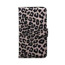 Housse étui avec système de support pliable motif léopard pour iPhone 6 plus (+)