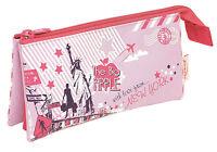 HELIX GIRLS PENCIL CASE Stationery City Sights New York Paris 3 Pocket School