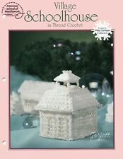 New listing Village Schoolhouse, White Christmas Collection crochet pattern leaflet