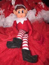 Christmas VINYL FACE13 inch SOFT REDToy GIRL OR BOY ELF SITTING ON THE SHELF