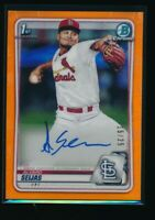 ALVARO SEIJAS AUTO 1st 2020 Bowman Chrome Autograph ORANGE REFRACTOR #/25 RC