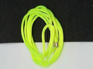 Thomas Sabo Neon Yellow Cord 100cm Silver Tips Festival Necklace Bracelet Strap