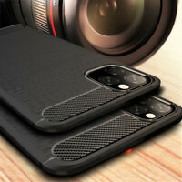 For iPhone 11 Pro Max 6.5 XS Max XR 7 6S 8 Plus Carbon Fibre Silicone Case Cover