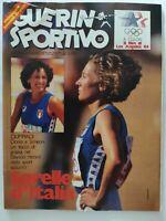 GUERIN SPORTIVO 33-1984 +MAXI POSTER FILM OLIMPIADI LOS ANGELES SIMEONI DORIO