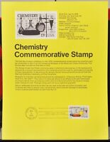 USPS 1976 First Day Issue Souvenir Page, Chemistry Commemorative - $0.13
