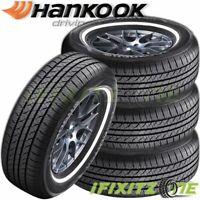 4 Hankook Optimo H724 P205/75R14 95S White Wall WSW All Season Touring Tires