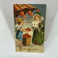 "Vintage Postcard To My Valentine "" A Heart Like This Means Endless Bliss """