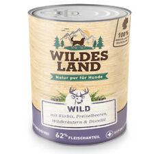 Nassfutter Hund, 6 x 800g, Wild, getreidefrei, Wildes Land