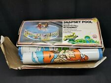 "Unused ZEE Toys 1982 The Flintstones 5' X 12"" The Wet Set Snapset Swimming Pool"
