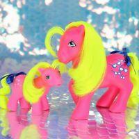 Vintage My Little Pony SHADY Mom & Baby Non So Soft NSS Deflocked G1 MLP BA977