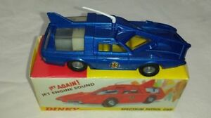 DINKY CAPATAIN SCARLET SPC 103 CAPTAIN BLUE RESTORED WITH REPO DISPLAY BOX