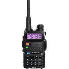 Baofeng Black UV-5R VHF/UHF Dual-Band Ham Walkie Talkies Two-way US Adapter