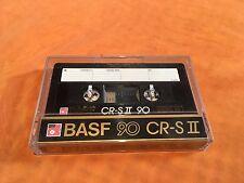 1 x basf 90 CR-S II cassette, IEC II/High posición, impecable, Rare