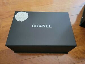 Authentic Chanel Magnetic Bag Storage Gift Box 12x8x5 with flower