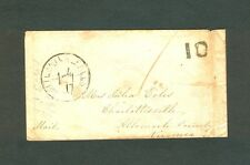 BUTTERMILK FALLS NY Double-circle w/Line CDS 1849 Envelope to Charlottesville VA