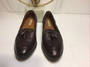 Massimo Dutti Italian Brown Leather Loafers Shoes Size 37 Women's US 6.5