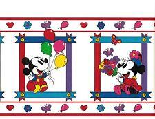 Disney Mickey Mouse In Frames Balloon Wallpaper Border Nursery Kid's Room Decor
