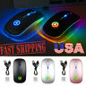 2.4GHz Wireless Mouse USB Rechargeable RGB Cordless Silent Mice For PC Laptop