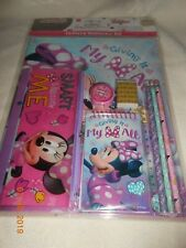 New kids 10 piece lot Minnie Mouse pencil case, folders, pencils Christmas Gift