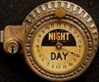 ANTIQUE (1890s) N.C.R. Co CASH REGISTER CLOCK, NIGHT/DAY 24 HOUR DIAL, w LOCK