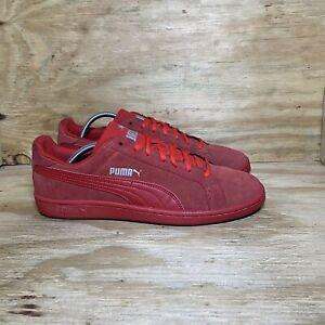 Puma Smash Suede Shoes, Men's size 12, Red