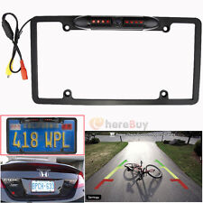 Car Rear View Backup Camera 8 IR Night Vision US License Plate Frame CMOS New