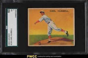 1933 Goudey Carl Hubbell #230 SGC 5 EX