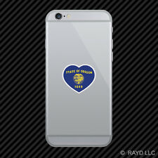 Oregon Heart Cell Phone Sticker Mobile OR love hearts pride native